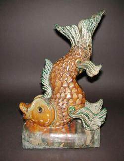 An image of Ridge tile in the form of a fish