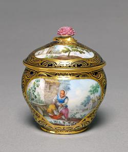 An image of Sugar bowl and cover