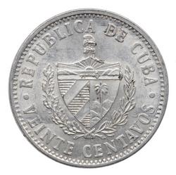 An image of 20 centavos