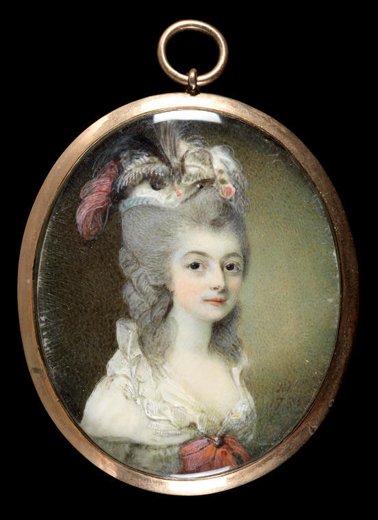 An image of Hone, Horace. Mary, Marchioness of Buckingham 1759-1812. Watercolour on ivory. 1783.