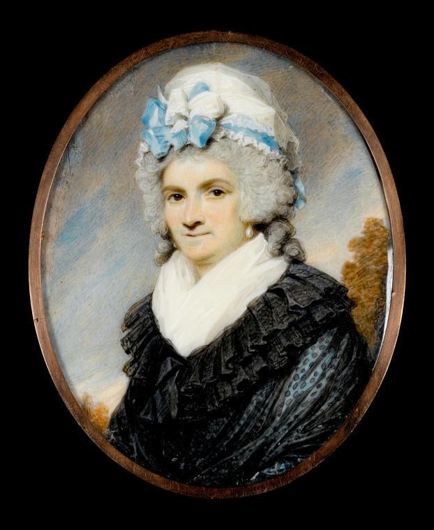 An image of Edridge, Henry. Mrs George Morrison. Watercolour on ivory. 1793.